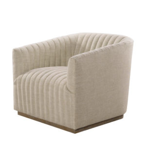 Кресло Sete Strip Linen Swivel Arm Chair-0