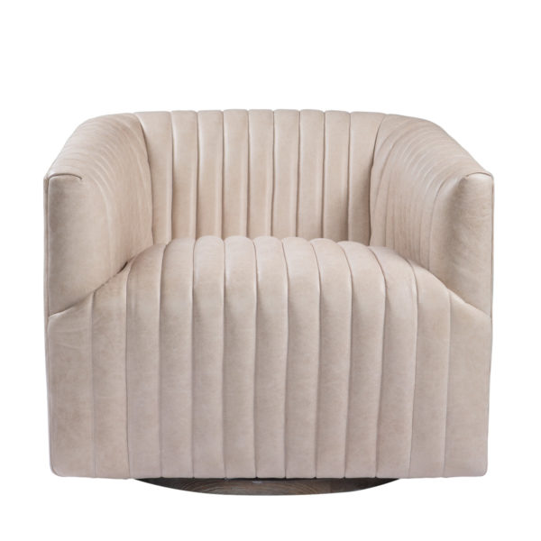 Кресло SETE STRIP LEATHER SWIVEL ARM CHAIR-2795