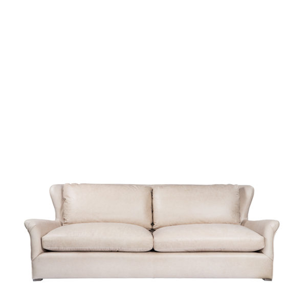 Диван WINSLOW LEATHE SOFA VELVET BACK-2814