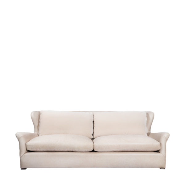 Диван WINSLOW LEATHE SOFA VELVET BACK-2815