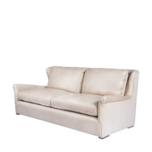 Диван WINSLOW LEATHE SOFA VELVET BACK-0